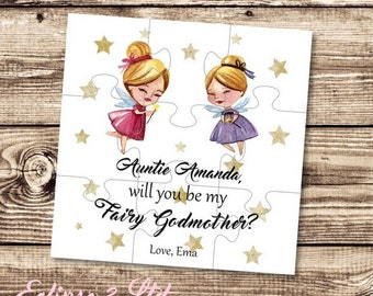 Will you be my godmother scratchcard godmother card will you be my fairy godmother gift card godmother puzzle asking godmother proposal christening gift baptism m4hsunfo