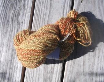 100% Alpaca, hand spunyarn, natural dye, 225 yards