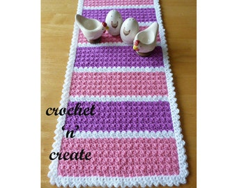 Table Runner Crochet Pattern (DOWNLOAD) CNC08