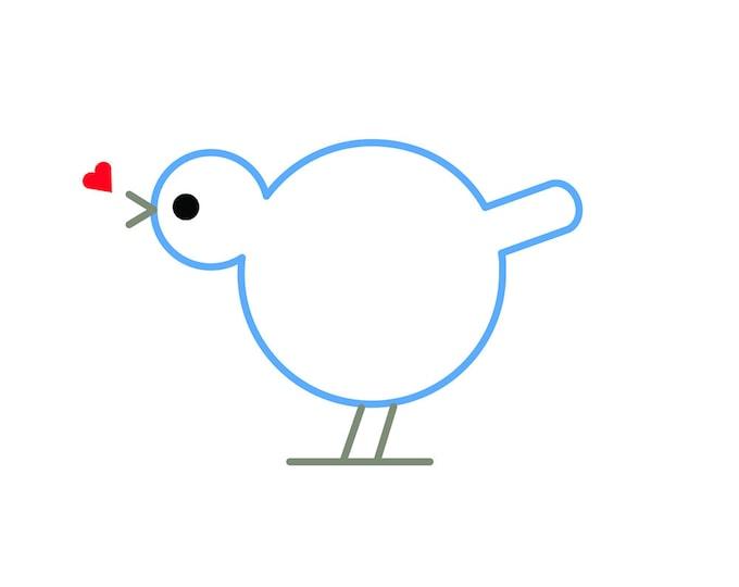 232 My Heart Sings Greeting Card | Bird | Heart | Love | Valentine | Happiness