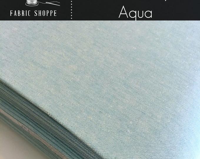 Linen Fabric, Essex Linen, Essex Yarn Dyed, Apparel Fabric, Aqua Dress fabric, Light fabric, Robert Kaufman, Essex in Aqua
