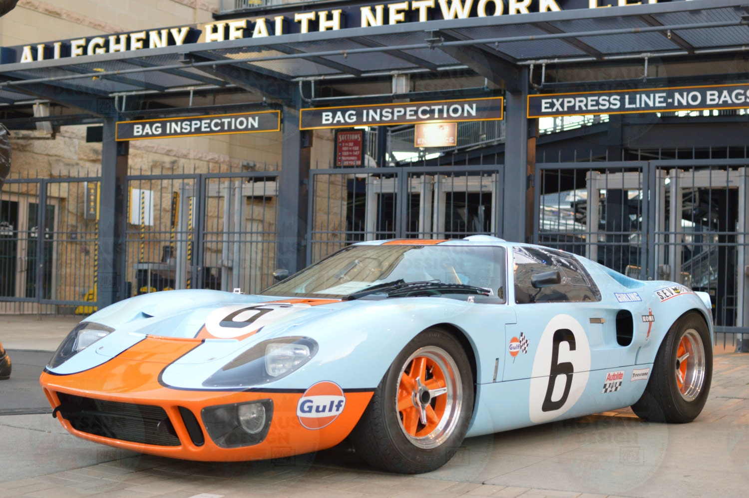 Gulf Oil Ford GT40 Photograph Vintage Auto Racing GT40
