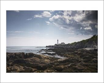 Portland Head Light Lighthouse - Maine - Color Photo Print - Fine Art Photography (LM02)