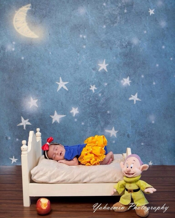SALE Newborn Bed and Nightstand Set Photography Prop, All American Doll Photo Prop