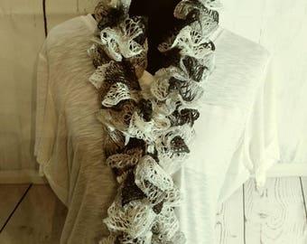 Black, white & grey scarf