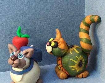 Calendar Cats, September -  School Days Cat or Sunflower Cat