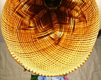 Pendant lamp shade etsy handmade bamboo pendant light wooden lamp shade rusticvintage hanging light wicker lighting wicker lamp aloadofball Gallery