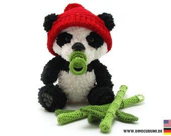 Little panda crochet pattern amigurumi