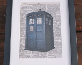Dr Who - Framed Dictionary Print