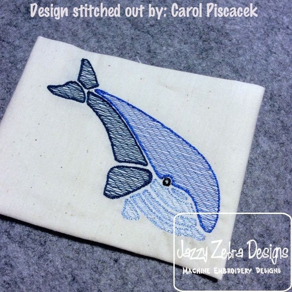 Whale Color Sketch Embroidery Design - summer Sketch Embroidery Design - beach Sketch Embroidery Design - whale Sketch Embroidery Design