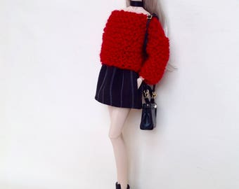 Sweater and miniskirt set for Barbie or Fashion Royalty dolls