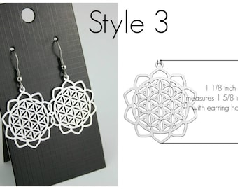 Filigree Earrings Style 3 Stainless Steel Setting As Seen On Jane.com