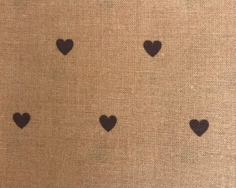 Hearts on Brown Fat Quarter