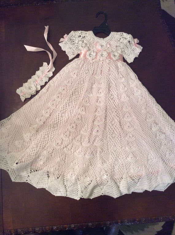 Hierloom style christening gown crochet pattern baby blessing