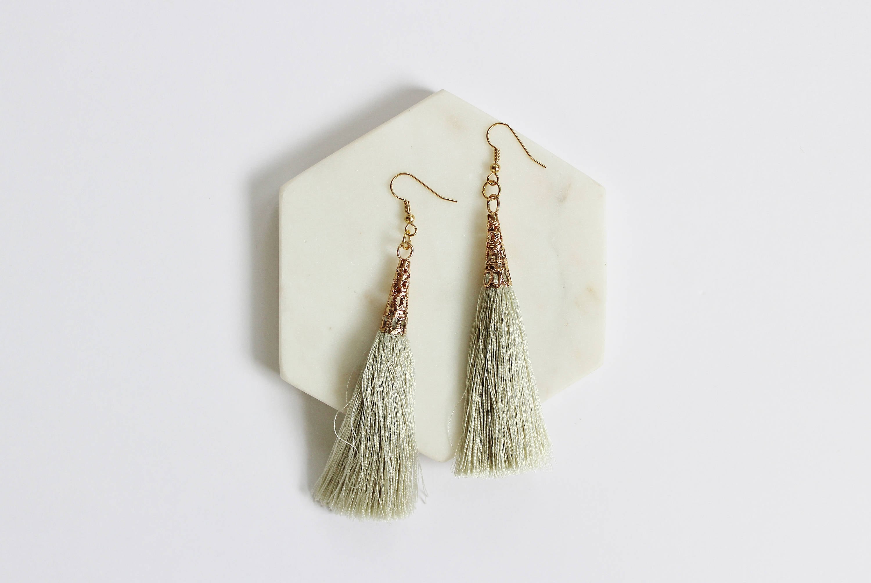 rock leather products ice girls natural fire fringe earrings image