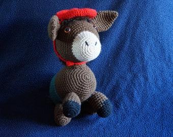 Carmelo, donkey crochet