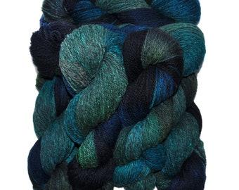 Hand dyed yarn - Alpaca / American wool yarn, Worsted weight, 240 yards - Mama-Cocha