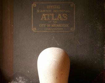 Vintage Balsa Wood Hat Block - Millinery Tool - Wig Stand