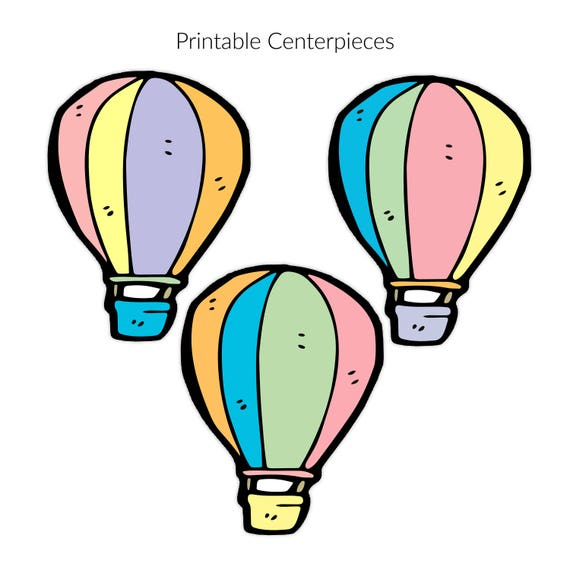 hot air balloons oh the places you ll go centerpieces sign rh etsystudio com oh baby the places you'll go clipart