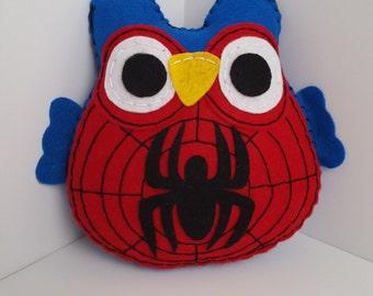 Fluffy Spiderman Owl