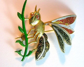 Damascene Insect  Brooch Spain