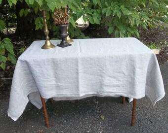 Stone Washed Linen Tablecloth Custom Handmade Linen Table Cloth   Fray Edge Tablecloth French Country Wedding Decorations Table Decor