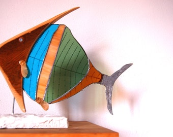 Fish Glass and wood