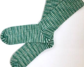 Handmade Wool Socks 439 -- Men's Size 10-12