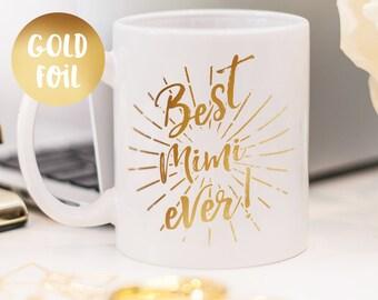 Mimi mug, gold foil mug customized gift for your mimi