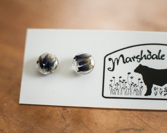 Chill Out Earrings, Real Lavender stud earrings