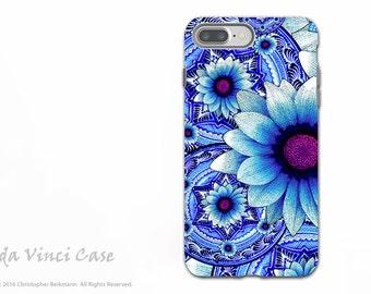 Blue Mexican Floral iPhone 7 PLUS - 8 PLUS Tough Case - Dual Layer Protection - Apple iPhone 7 PLUS Case - Talavera Alejandra