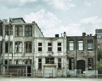 Birmingham Art, Old Building Photo, Industrial Decor, Urban Decay
