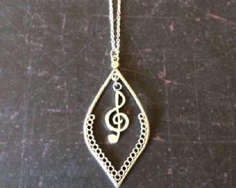 Music Gift - Music Teacher Gift - Music Jewelry - Music Necklace - Music Lover Gift - Music Lover Necklace - Musical Jewelry - Musician Gift