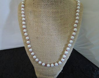 White & Brown Pearl Necklace