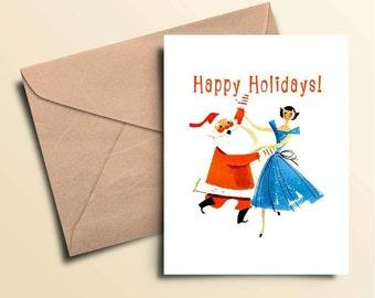 Santa Dance Holiday Cards