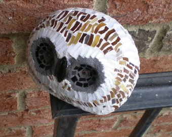 Stained Glass Mosaic Barn Owl