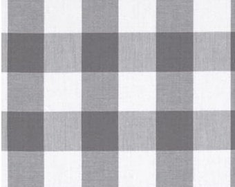 Grey and WHITE Gingham Check Table Runner, Weddings, Events, Everyday Meals, by Chow with ME