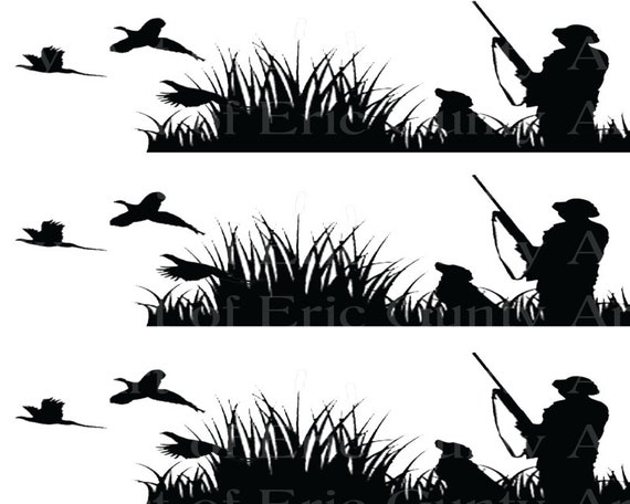 Pheasant Hunting - Edible Cake Side Toppers- Decorate The Sides of Your Cake! - D24035
