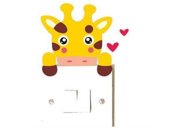 1 switch or plug decal giraffe