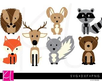 Woodland Animals svg, Woodland Animal svg, Woodland svg, Fox svg, Deer svg, Bear svg, Hedgehog svg, Rabbit svg, Raccoon svg, Squirrel svg