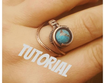 Wire ring tutorial, how to make a wire ring, wire wrap tutorials jewelry tutorials, gemstone ring tutorial