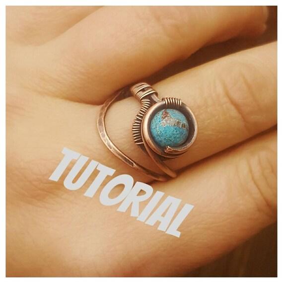 Draht-Ring-Tutorial wie man einen Draht ring Draht wickeln