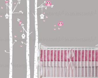 Woodland Birch Tree Wall Decal | Woodland Animals Wall Art | Sticker Pack | Custom Nursery | Kids Wall Stickers | Wall Decal Sticker | 018