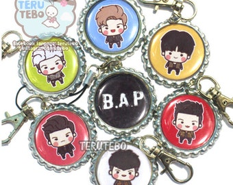 "B.A.P kpop ""Young, wild, and free"" BAP kpop dust plug/ cell phone charm / keychain"