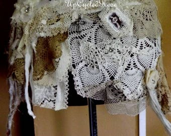 Curvie Girl Hip Wrap Shabby Belt Art to Wear Festival Chic Ready to Ship FREE In USA