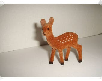 Small Flocked Deer/ Standing /Holiday Decor /Supplies*