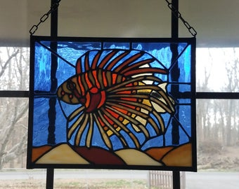 Stained Glass Lion Fish