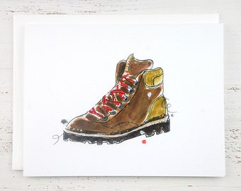Hiking Boot Note Card