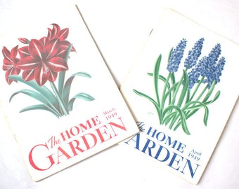 The Home Garden - 2 Issues From 1949