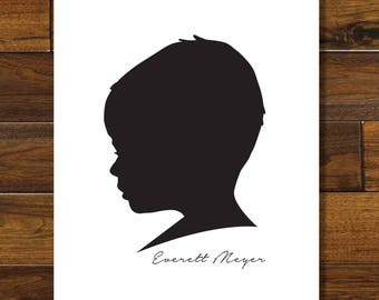 Custom Silhouette Printable, Digital Download
